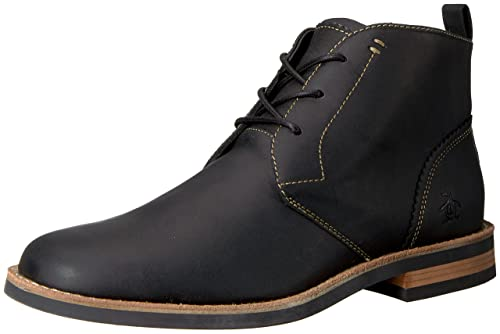great quality new product new release Original Penguin Men's Merle Chukka Boot, Black, 7 M US ...