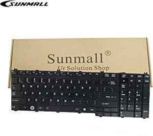 SUNMALL US Layout Laptop Keyboard Replacement for Toshiba Qosmio A500 A505 G50 G55 X300 X305 X500 X505 L350 L350s L355 L355s L500 L505 L511 L512 L515 L516 L517 L550 L555 L581 L582 P300 P305 P500 P505