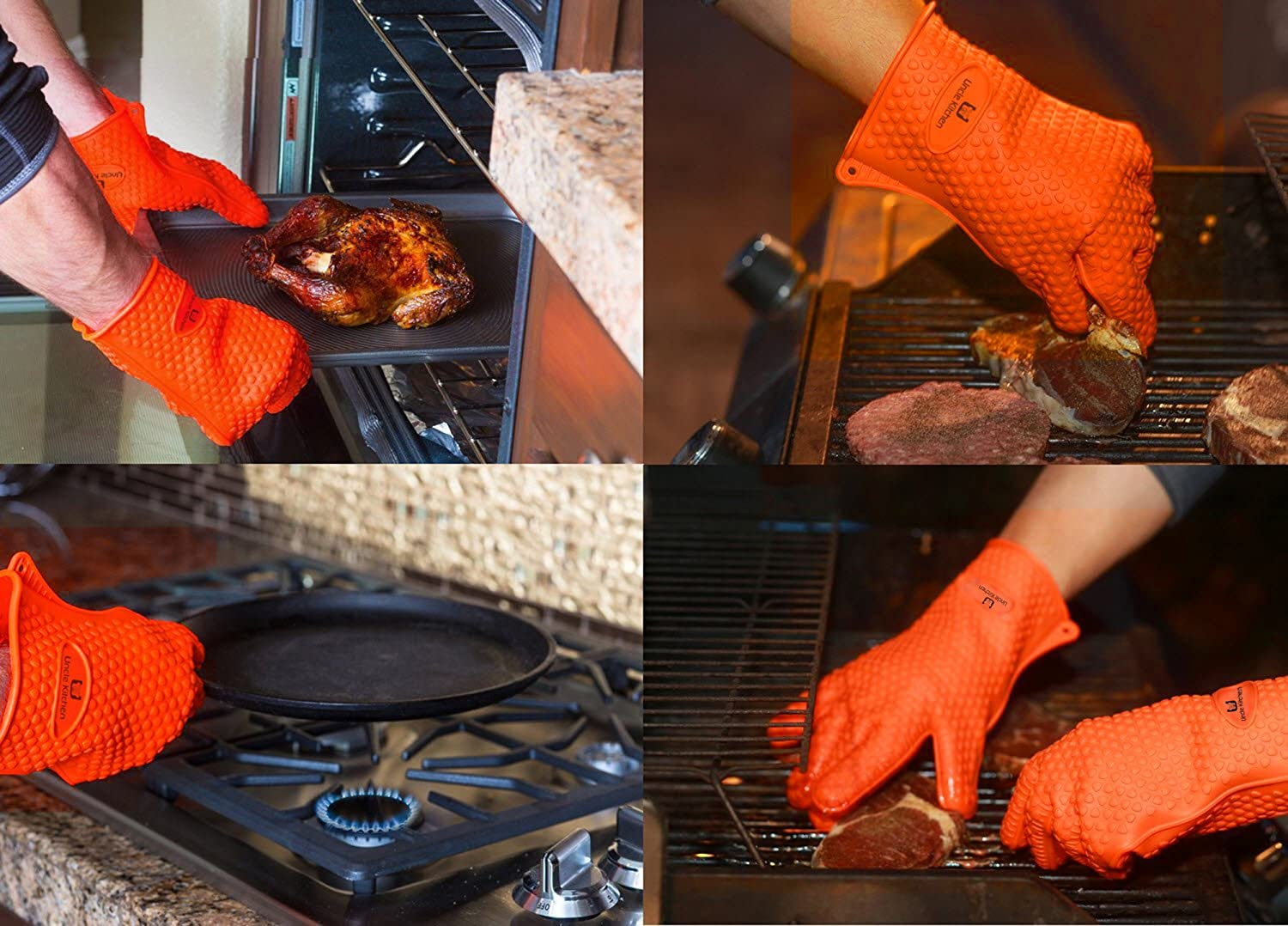 amazon com best silicone oven mitts grilling bbq baking gloves