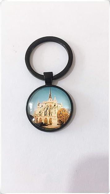 Llavero estilo gótico Notre Dame llavero clásico francés ...