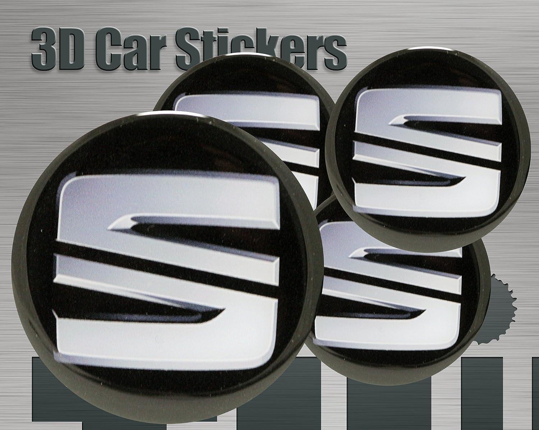 Adhesivos 3D 4 pzs. Imitación Todo tamaño Tapa central Tapas de rueda (50 mm): Amazon.es: Coche y moto