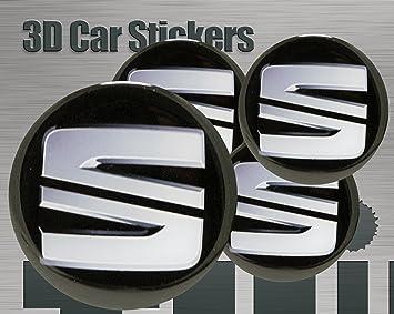 Adhesivos 3D 4 pzs. Imitación Todo tamaño Tapa central Tapas de rueda (50 mm
