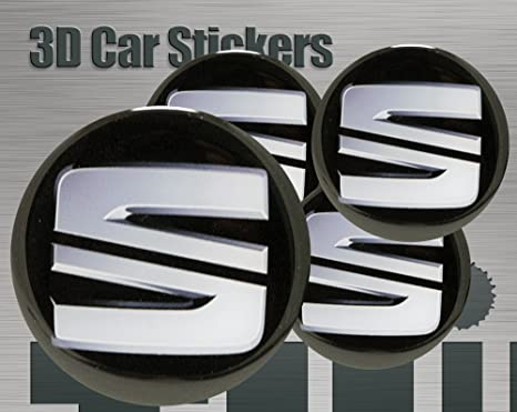 Adhesivos 3D 4 pzs. Imitación Todo tamaño Tapa central Tapas de rueda (60 mm