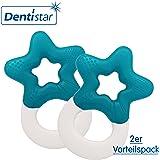 Dentistar174; Beißring kühlend im Set - Stern - Zahnungshilfe für Babys ab 3 Monate - Kühlbeißring Baby wassergefüllt - Made in Germany