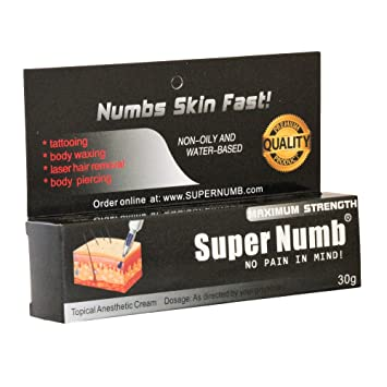 Amazon.com: 30g SUPER NUMB Anesthetic Skin Numbing Cream Numb Tattoo ...