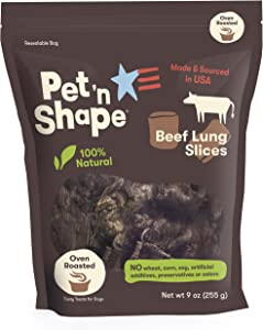 Pet 'n Shape Beef LungDog Treats – Made and Sourced in the USA - All Natural Healthy Treat