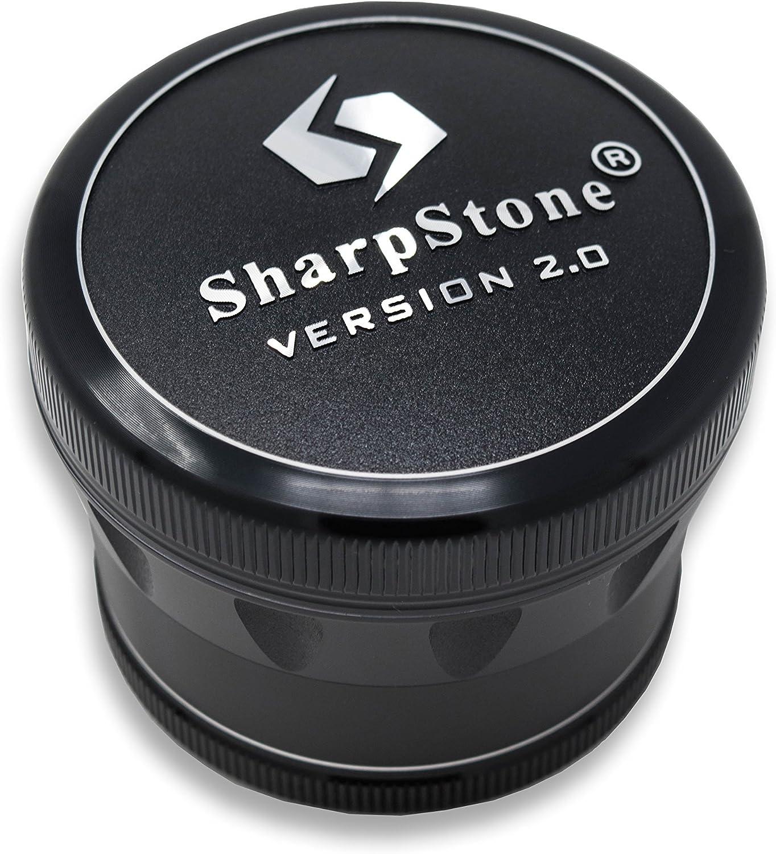 Sharpstone Kr/äuterm/ühle Aluminium,/4/St/ück Large schwarz