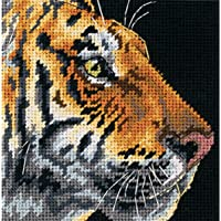 "Dimensions Profilo di Tigre Needlepoint Mini Kit-5""X 5"""
