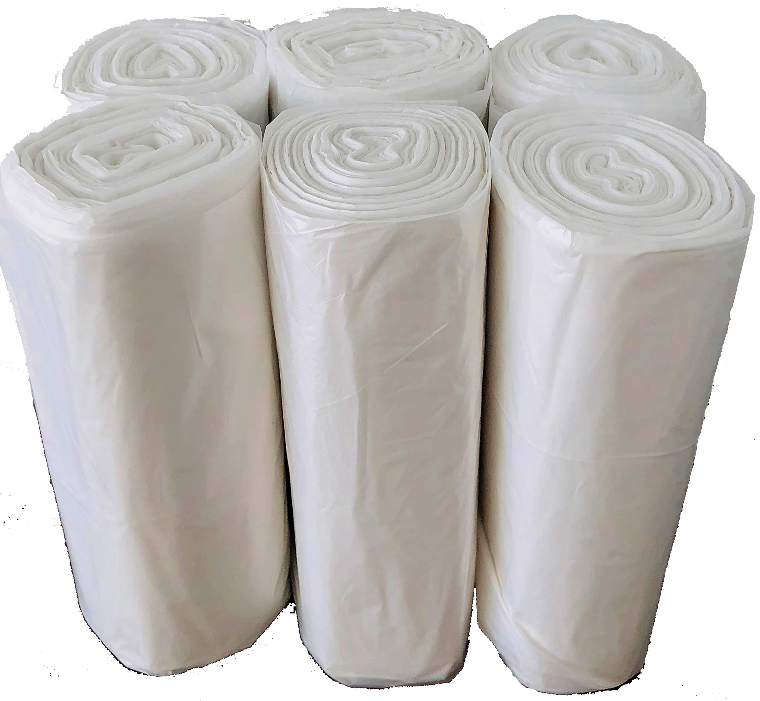 Reli. Easy Grab Trash Bags, 55-60 Gallon (150 Count) (Clear) - Star Seal Super High Density Rolls - Heavy Duty Can Liners, Garbage Bags, Bulk Bags - 50, 55, 60 Gallon Capacity by Reli. (Image #4)