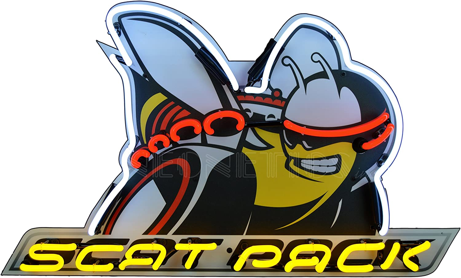 Scat Pack Dodge Sign Bee Garage Truck Car Vintage Style Gas Oil Bar Pub Club