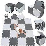 meiqicool Alfombrillas para Puzzles | Alfombra Puzzle para Niños Bebe Infantil Suelo de Goma EVA Suave 142 x 114 cm 18…
