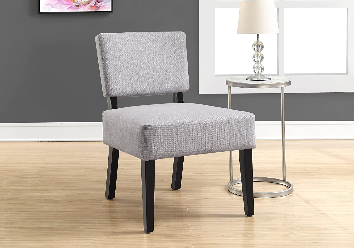 K LIVING D43-GR Dori Upholstered Accent Chair in Grey