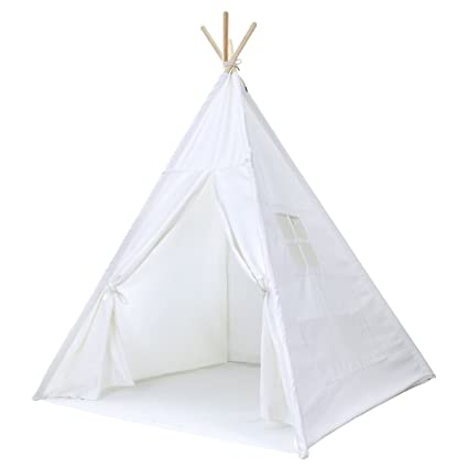 Striped Kids Teepee Tent - Portable Canvas Tent No Extra Chemicals Includes Carrying Case  sc 1 st  Amazon.com : no white tent - memphite.com