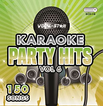 Karaoke Party Hits Vol 6 CDG CD+G Disc Set - 150 Songs on 8 ...