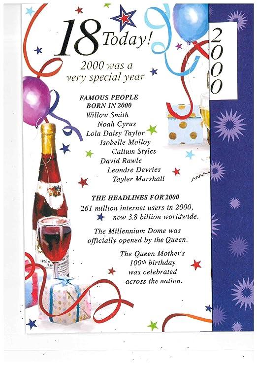 Simon elvin 2018 special year you were born male birthday cards simon elvin 2018 special year you were born male birthday cards 2000 18th amazon office products m4hsunfo