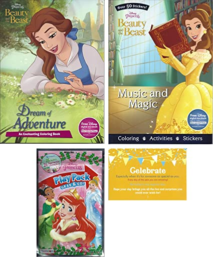 Amazon Com Disney Beauty And The Beast Coloring Experience Bundle