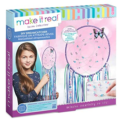 Make It Real - DIY Dreamcatcher.  Make Your Own Dream Catcher Arts and Crafts Kit for Tween Girls.  Includes Dream Catcher Hoop, Strings and Ribbons, Beads, Butterfly Pin and More: Toys & Games