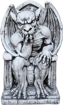 Der Nachdenkliche Torwächter Steinguss frostfest Massive Steinfigur Gargoyle