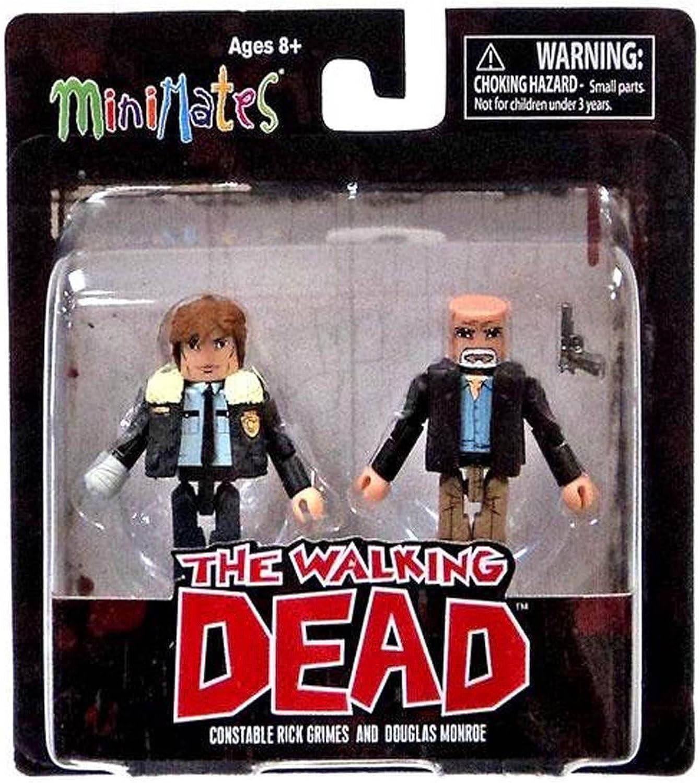 The Walking Dead Minimates Series 6 Constable Rick Grimes and Douglas Monroe