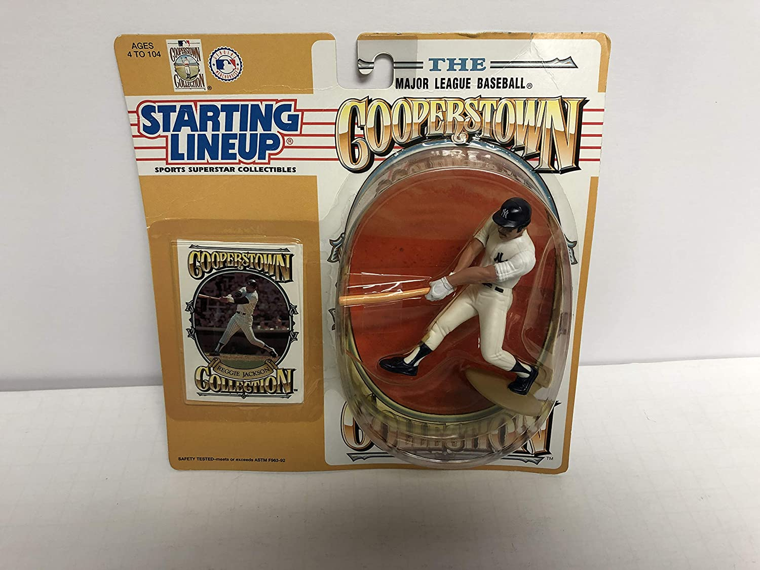 1994 Reggie Jackson Cooperstown Collection New York Yankees MLB Baseball Action Figure with Collectible Trading Card
