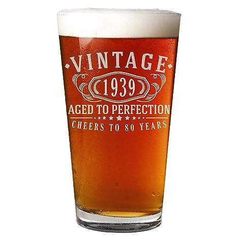 Amazon.com: Vaso de cerveza de 16.0 fl oz con grabado de ...