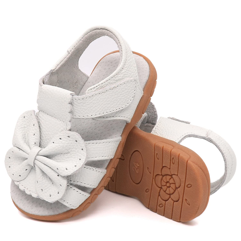 Femizee Girls Leather Summer Flower Sandals