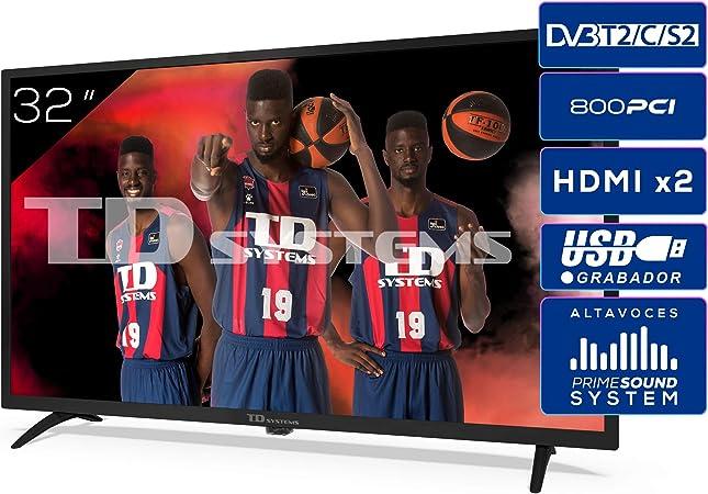 TD Systems K32DLK12H - Televisores 32 Pulgadas HD 3X HDMI ...