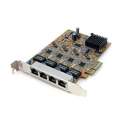 StarTech ST1000SPEX4 - Tarjeta de Red (PCI Express, 4 x RJ-45, 1000 Mbit/s), Naranja