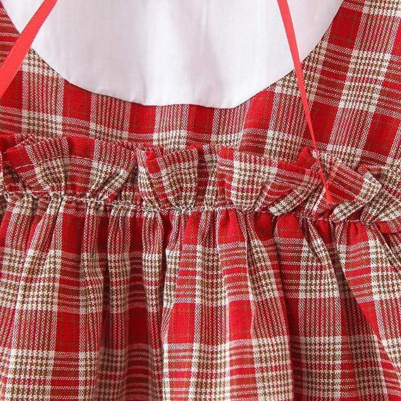 Amlaiworld Robe B/éb/é Fille Manche Longue Plaid Impression Chemise Robe /Ét/é Mignon Casual Chic Dress Bambin Party Vacances C/ér/émonie V/êtements 0-24 Mois