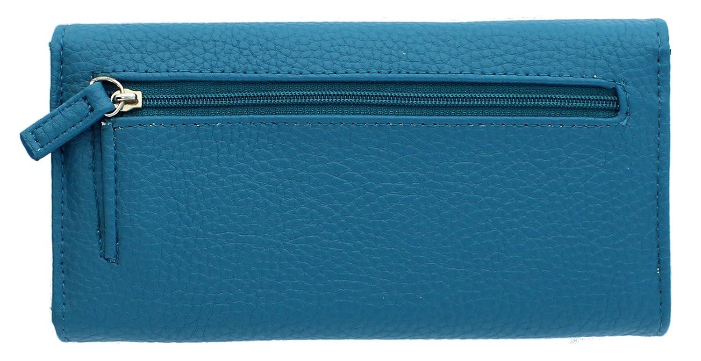 Mundi - Organizador de embrague con bolsillos con cremallera para mujer - Azul - talla única: Amazon.es: Ropa y accesorios