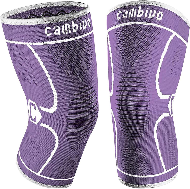 Rodillera Deportiva para Hombre y Mujer Rodillera Compresion para Running CAMBIVO 2 x Rodilleras Menisco y Ligamento Artrosis Voleibol Tendinitis
