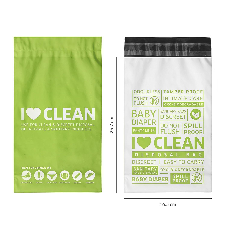 Pañales y bolsas de desechos sanitarios 100% Oxo Biodegradable hermético bolsas de (60 Bolsas): Amazon.es: Bebé