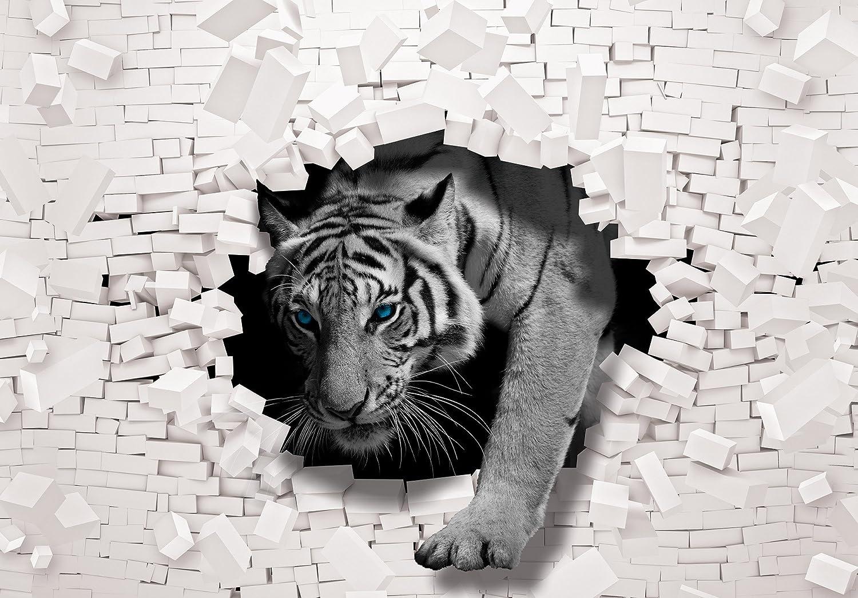 Fototapete 3 D olimpia design fototapete 3d tiger kommt aus der wand 1 stück