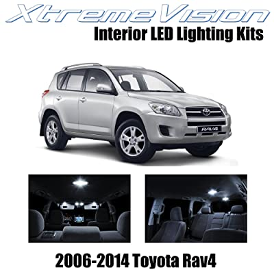 XtremeVision Interior LED for Toyota RAV4 2006-2014 (6 Pieces) Pure White Interior LED Kit + Installation Tool: Automotive