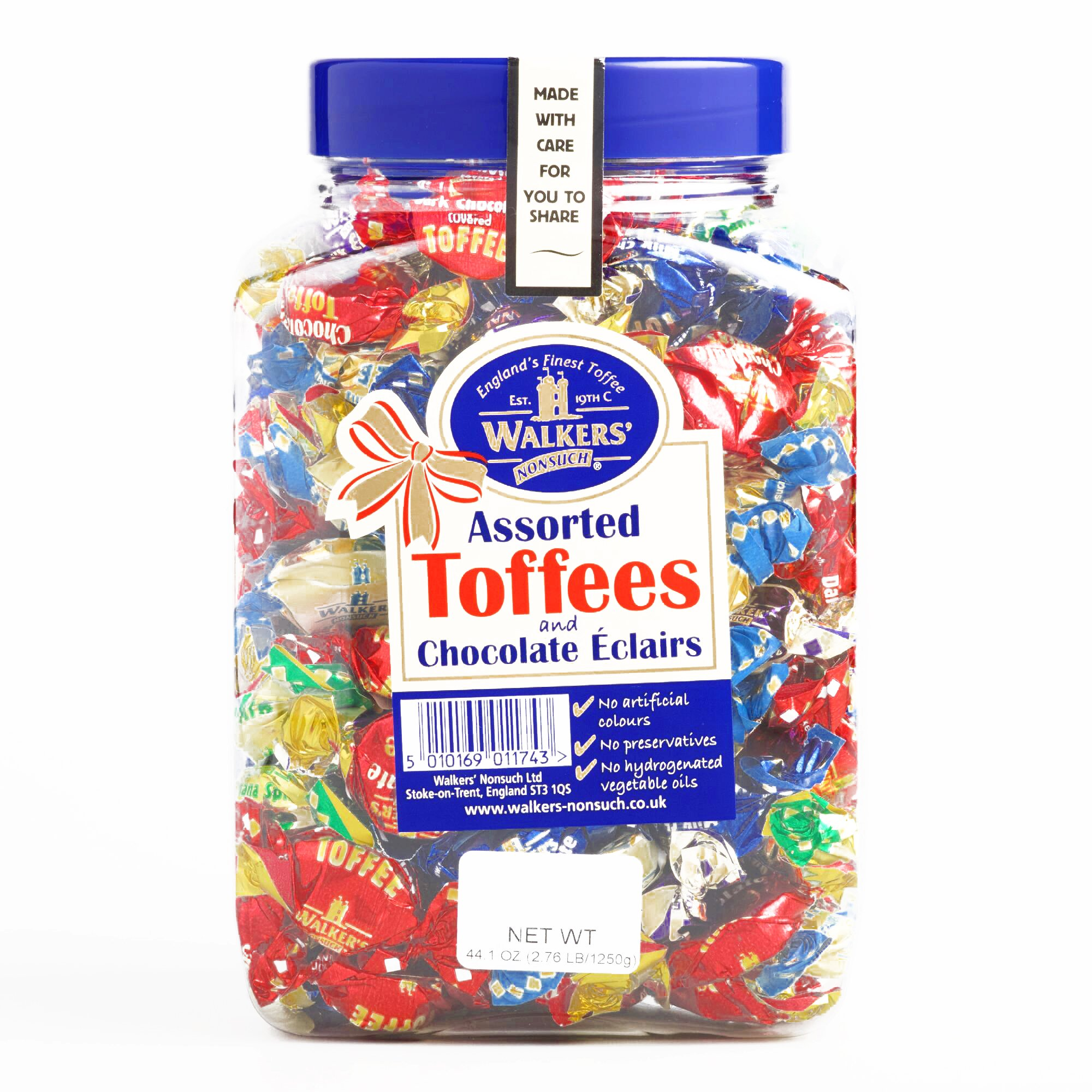 Walkers Toffee and Eclair Tub - Gourmet Christmas Gift for the Holidays (1 Item per Order, Not per Case) by Walkers Toffee