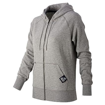New Balance Women's Essentials Plus Full Zip Fleece Hoodie, Athletic Grey,  X-Small