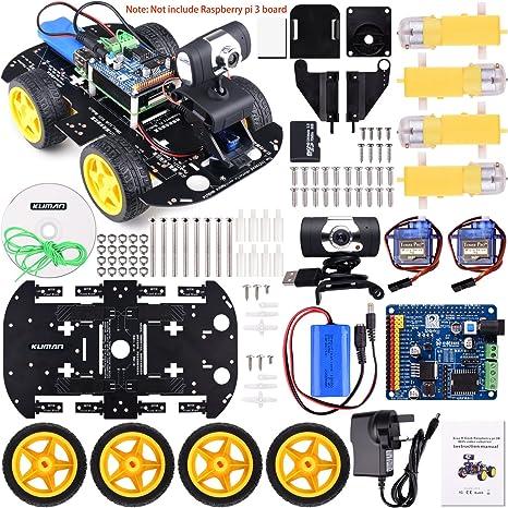 Kuman profesional WiFi inteligente robot modelo kit de coche ...