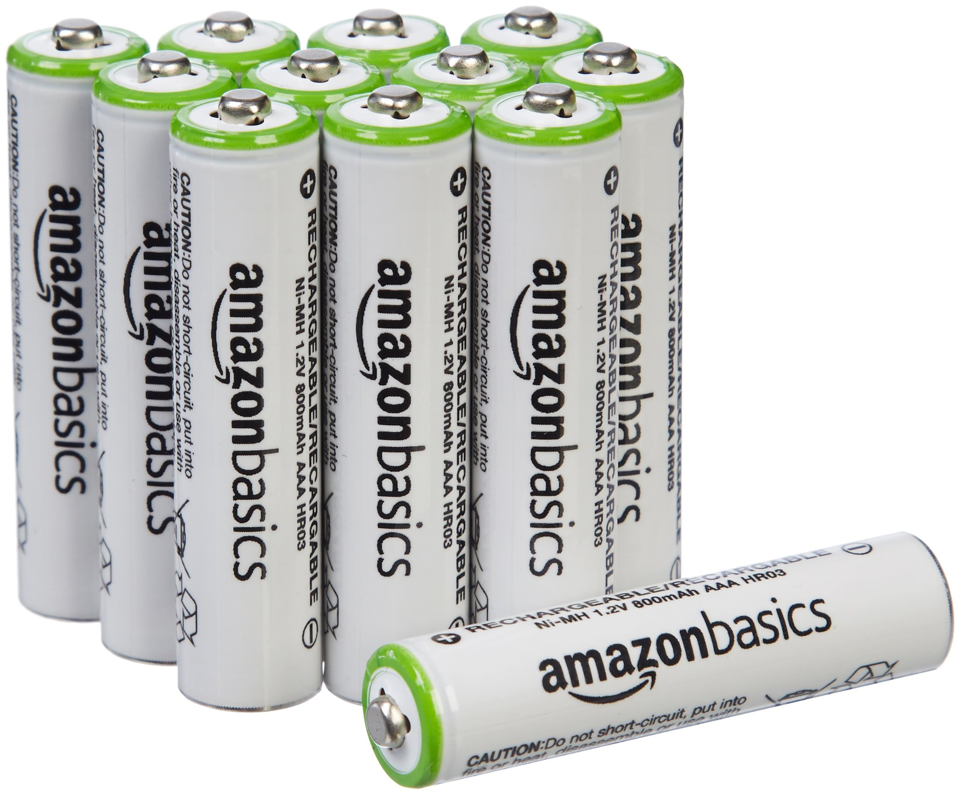 AmazonBasics AAA Rechargeable Batteries (12-Pack) Pre-charged - Battery Packaging May Vary by AmazonBasics