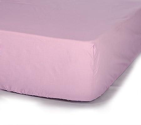 Sábana Bajera ajustable 100% algodón alta calidad. Portugal.(LILA 160cm): Amazon.es: Hogar
