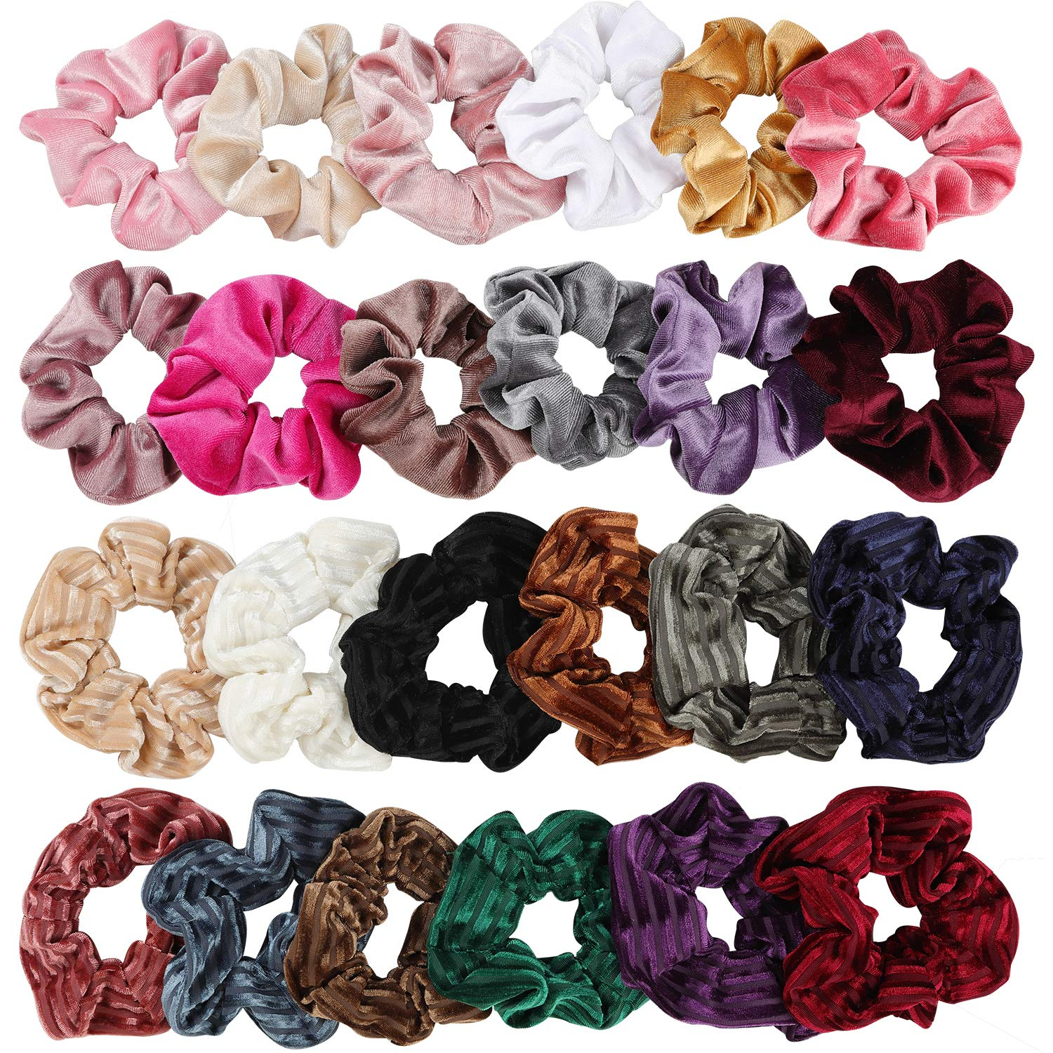 9 telephone cord scrunchies coral lilac stretchy Elastic Bands for hair Styling