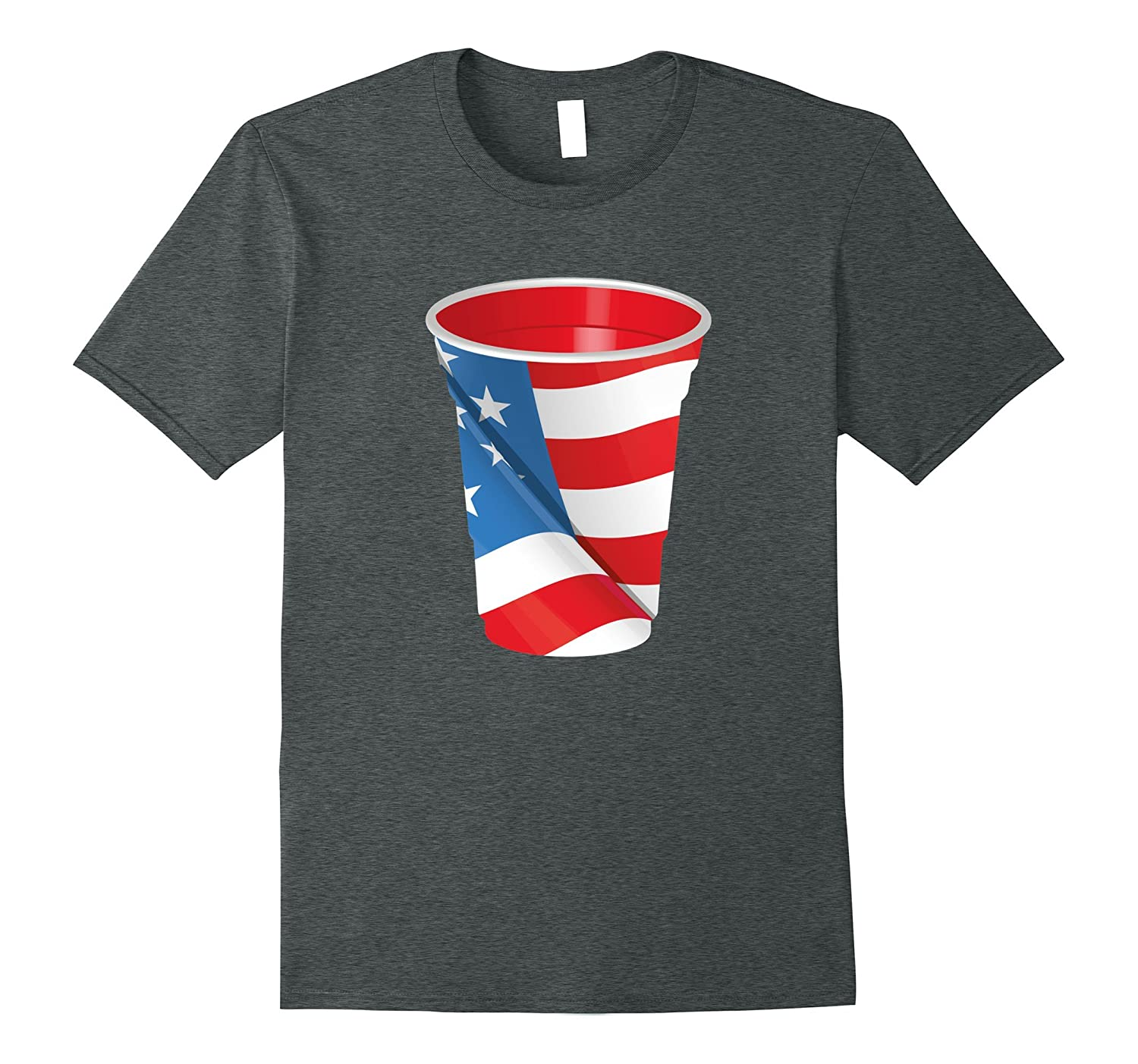4th Of July Beer Red Cup Flag T-Shirt Patriotic Unisex-PL
