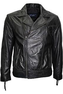 GUNNER Men/'s Biker Jacket Olive Biker Style Casual FASHION 100/% Leather 7861