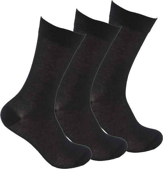 Calcetines de algodón (3 pares) SIN GOMA y SIN COSTURAS para pies ...