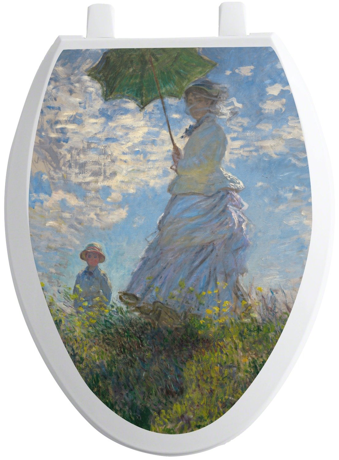 RNK Shops Promenade Woman by Claude Monet Toilet Seat Decal - Elongated