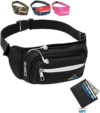 BeFree360 Hiking Waist Bag Fanny Pack for Women Men Water Bottle Holder Running Dog Walking Travel Cycling Holds iPhone8 Plus