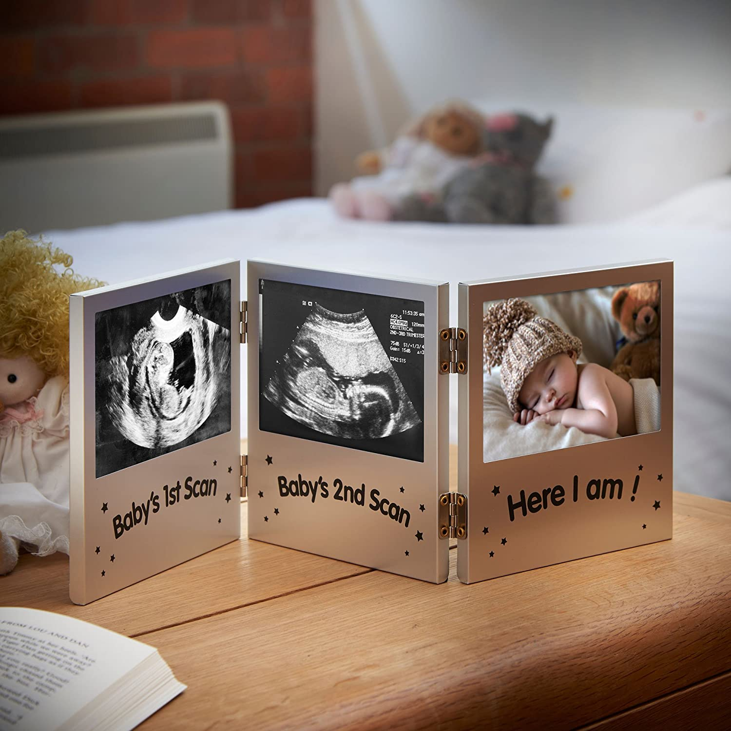 Amazon vonhaus triple picture frame for keepsake ultrasound amazon vonhaus triple picture frame for keepsake ultrasound sonogram pregnancy scan images and baby photos the perfect gift idea baby jeuxipadfo Gallery
