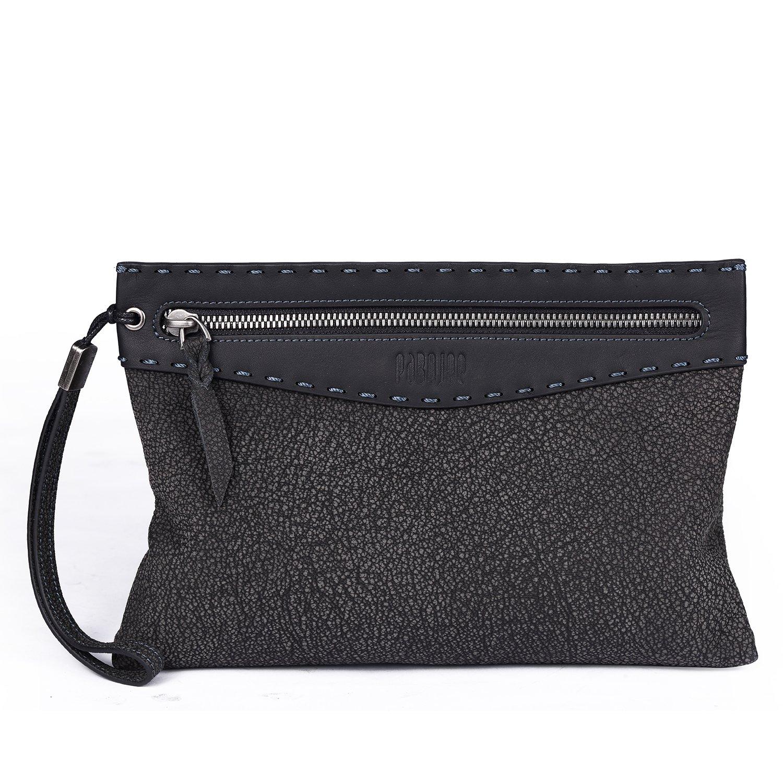 9ad6d1b26d Pabojoe Genuine Leather Mens Clutch Bag Handbag Travel Wristlet Organizer  Bag  Amazon.co.uk  Shoes   Bags