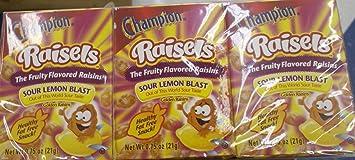 Champion Raisels Sour Lemon Blast Fruit Flavored Raisins 6