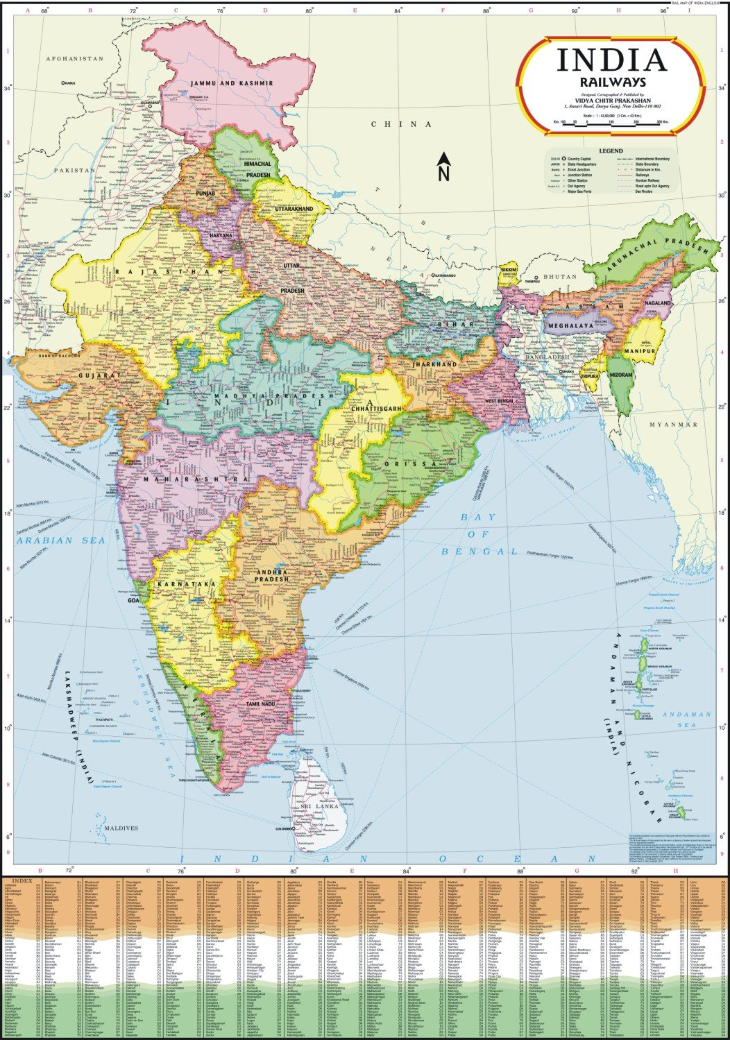 Railway Map Of India.Buy India Railways Map Book Online At Low Prices In India India