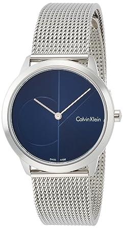 Calvin Klein Reloj Analogico para Mujer de Cuarzo con Correa en Acero Inoxidable K3M2212N: Amazon.es: Relojes
